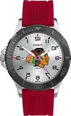 Men's Chicago Blackhawks Gamer Watch Timex Silicone Watch