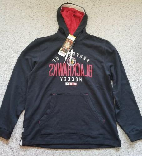 mens chicago blackhawks casual pullover hoodie size