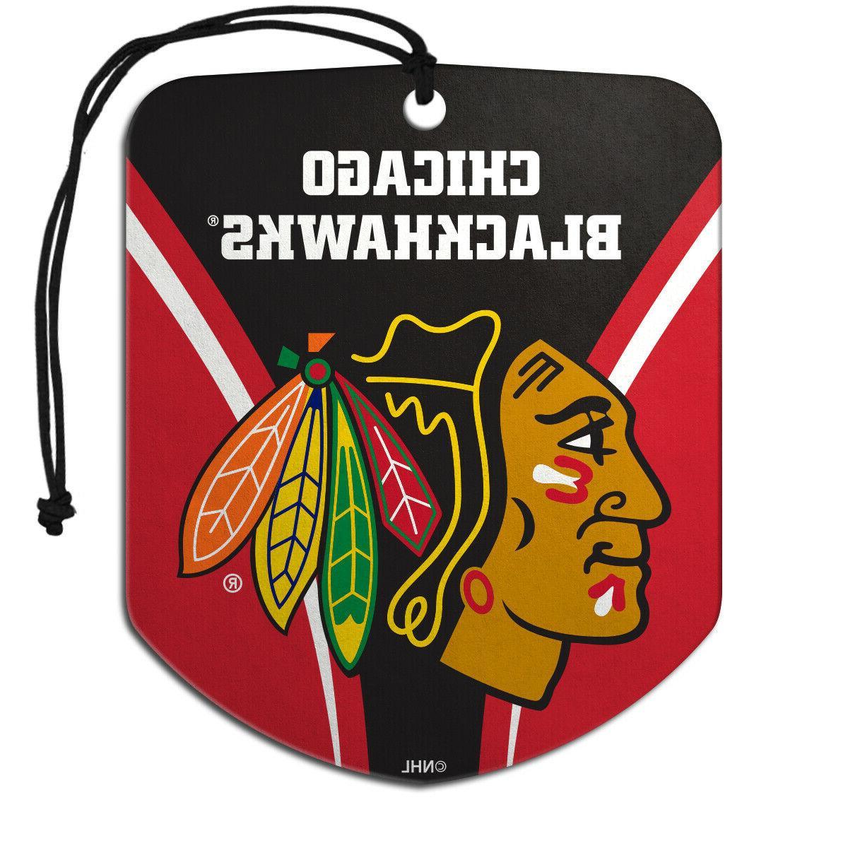 nhl chicago blackhawks 2 pack air freshener