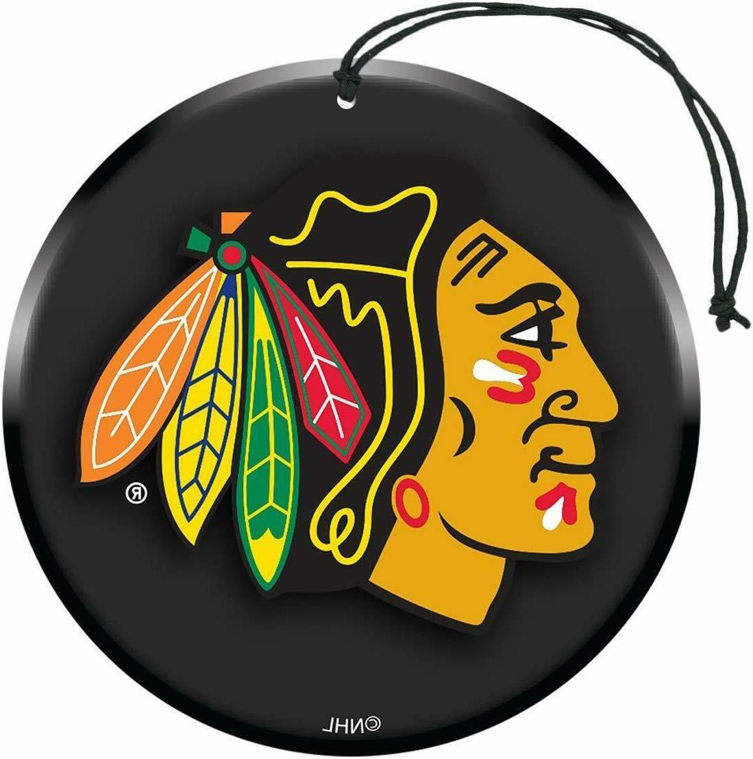nhl chicago blackhawks air freshener 3 pack