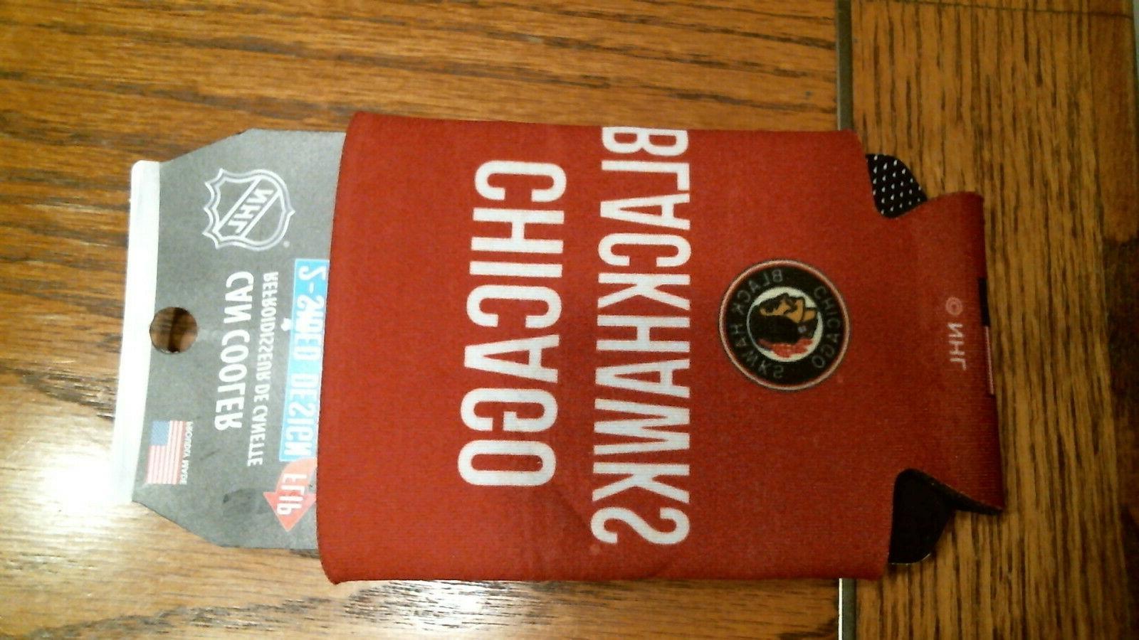 NHL Chicago Cooler Koozie, Designs Sides,