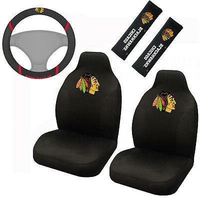 nhl chicago blackhawks car truck seat covers