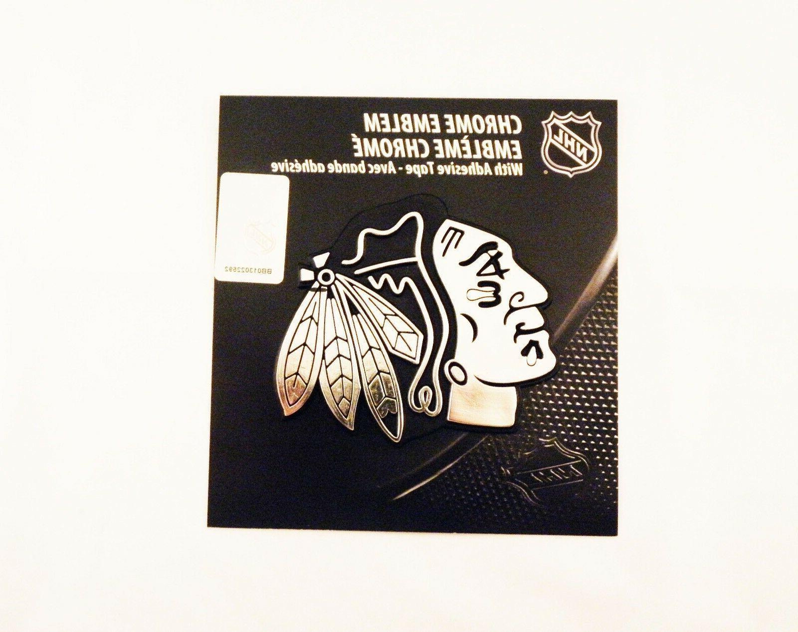 nhl chicago blackhawks chrome emblem