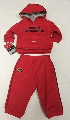 NHL Chicago Blackhawks Infant Reebok Face Off Apparel Sweats