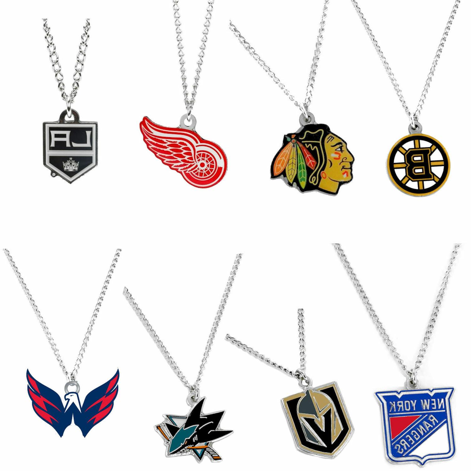 nhl logo necklace charm and chain pendant
