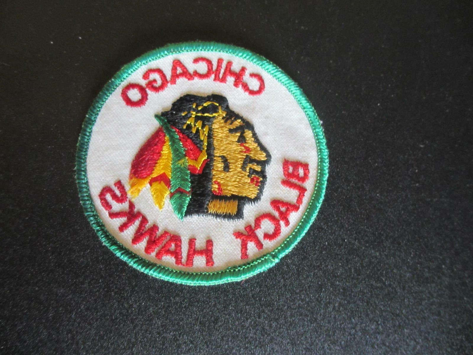 vintage 1970 s chicago blackhawks logo emblem