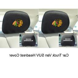 New 2pcs NHL Chicago Blackhawks Automotive Gear Car Truck He