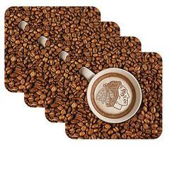 NEW CHICAGO BLACKHAWKS LATTEAM COFFEE ART 4pk COASTER SET PA