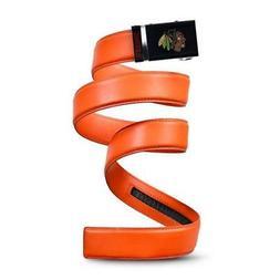 New Chicago Blackhawks Orange Mission Leather Belt Mens Size