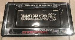 New! NHL Auto Tag License Plate Frame Chicago Blackhawks Sta