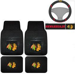 New NHL Chicago Blackhawks Car Truck Front Back Floor Mats S
