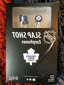 NEW NHL Toronto Maple Leafs Slap Shot Earphones Headphones N