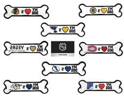 NHL BONE Car Magnets for You and Your Dog!! Multiple Teams -