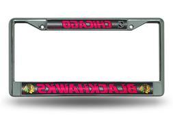 NHL Chicago Blackhawks Bling Chrome Plate Frame