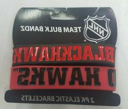 NHL Chicago Blackhawks Bulky Bandz Bracelet 2-Pack