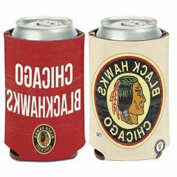 NHL Chicago Blackhawks Can Cooler Koozie, 2 Logo Designs on
