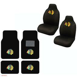 NHL Chicago Blackhawks Car Truck Front Rear Carpet Floor Mat