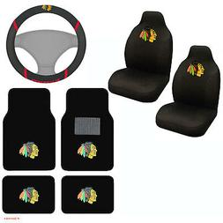 NHL Chicago Blackhawks Car Truck Seat Covers Floor Mats & St