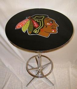 NHL Chicago Blackhawks Champs Logo Hockey Pub Table