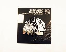 NHL Chicago Blackhawks Chrome Emblem, One Size, One Color