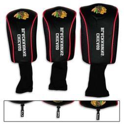 NHL Chicago Blackhawks Long Neck Mesh Golf Club Head Covers