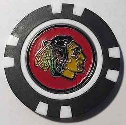 NHL Chicago Blackhawks Magnetic Poker Chip removable Golf Ba