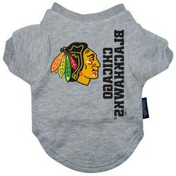 NHL Chicago Blackhawks Pet T-Shirt, Team Color, Medium