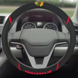 FANMATS NHL Chicago Blackhawks Polyester Steering Wheel Cove