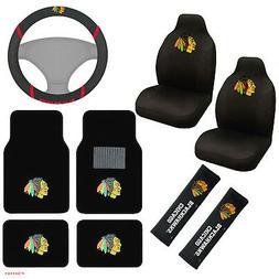 NHL Chicago Blackhawks Seat Covers Floor Mats Steering Wheel
