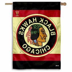 NHL Chicago Blackhawks Vintage Retro House Flag and Banner
