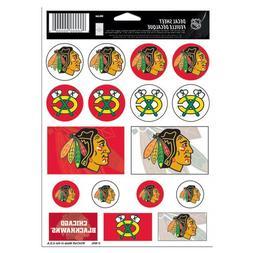 """NHL Chicago Blackhawks Vinyl Sticker Sheet, 5"""" x 7"""""""