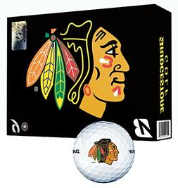 Bridgestone NHL E6 Golf Balls, Chicago Blackhawks