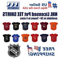 NHL Pet T-Shirt - Licensed, Wrinkle-free, stretchable Tee Sh