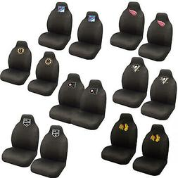 NHL Pick Your Teams Car Truck 2 Front Bucket Seat Covers Set