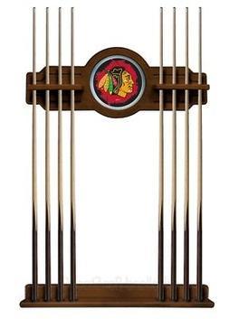 NHL Pool Cue Rack by Holland Bar Stool, Chardonnay - Chicago