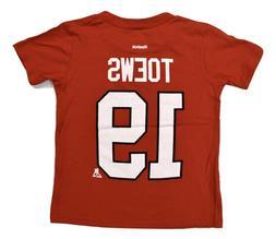 Reebok NHL Toddler Chicago Blackhawks Jonathan Toews Shirt N