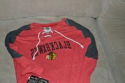 NWT Hockey NHL Apparel Chicago Blackhawks red L/S sweater sh