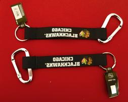 TWO  BEAUTIFUL AND HANDY, CHICAGO BLACKHAWKS  CARABINER KEYC
