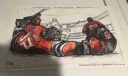 victoria hallberg print poster chicago blackhawks corey