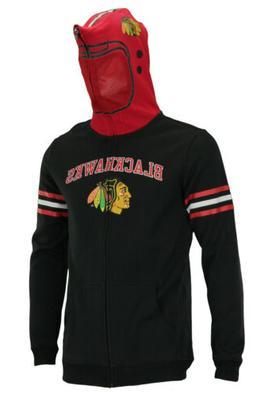 NHL Youth Chicago Blackhawks Full Zip Helmet Masked Hoodie,
